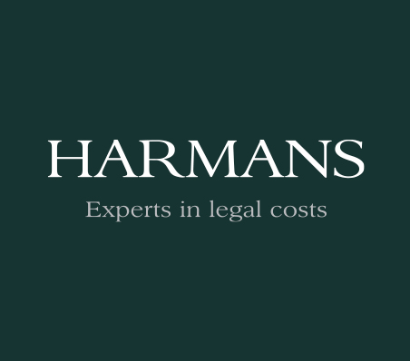 Harmans logo on a dark green background