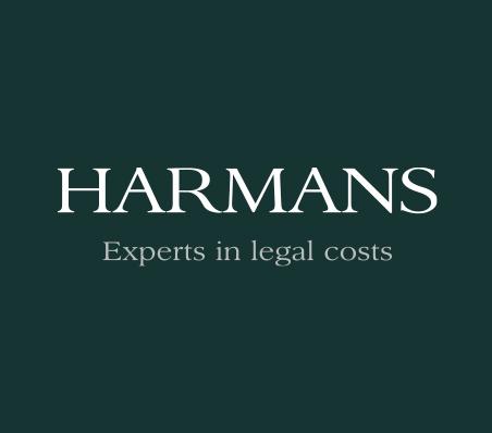 Harmans logo on a dark green background